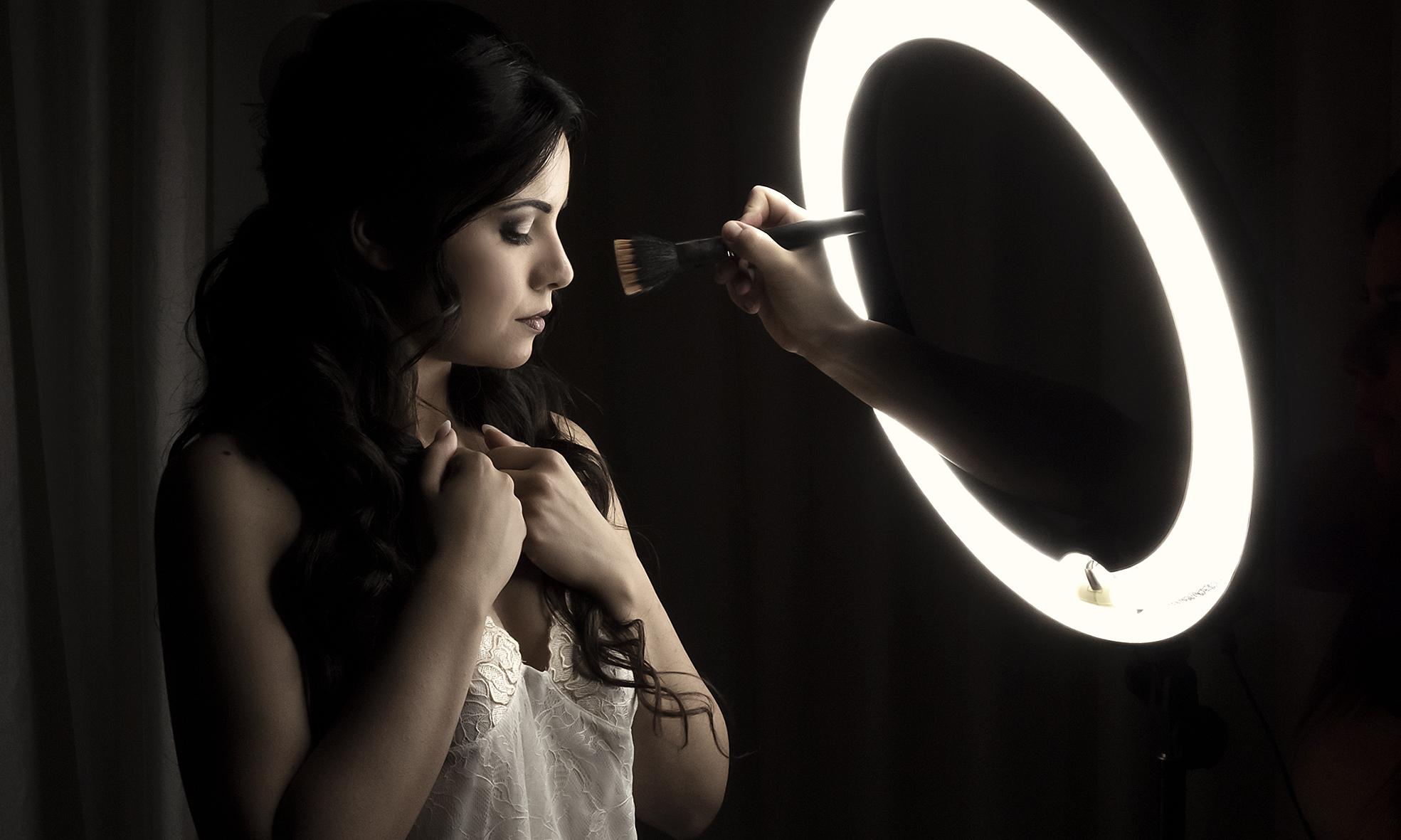 Fotografo Sposa: ritratto makeup sposa
